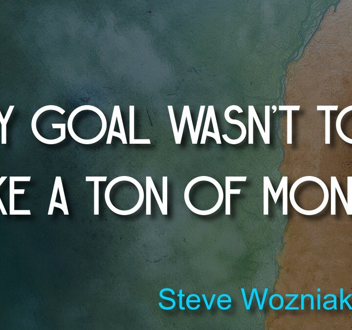 Quotes from Steve Wozniak (Apple), Stephen Gaghan, David Foster Wallace (The Pale King), Scott Adams, Charles Darwin.