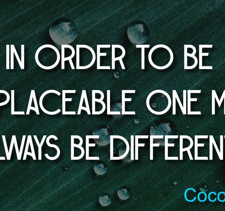 Quotes from Coco Chanel, Blaise Pascal, Anthony Daniels.