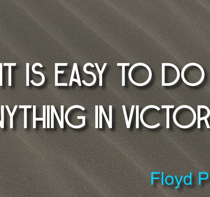 Quotes from Floyd Patterson, Epicurus, Thomas Hardy, Jack Irons, Virgil.